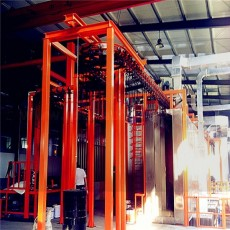Vertical steel pipe painting line