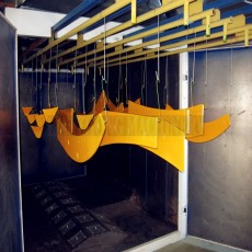Modular curing oven for powder coating