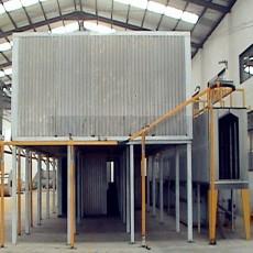 Gas burner type powder coating oven
